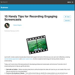 Tips for Recording Screencasts