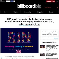 IFPI 2013 Recording Industry in Numbers: Global Revenue, Emerging Markets Rise; U.S., U.K., Germany Drop