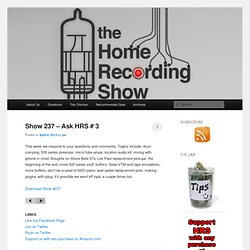 The Home Recording Show Podcast