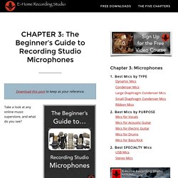 Recording Studio Microphones: The Ultimate Beginner Guide