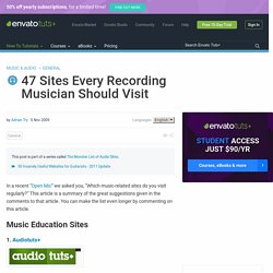 47 Sites Every Recording Musician Should Visit - StumbleUpon