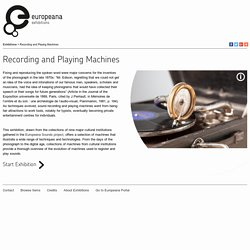 Recording and Playing Machines