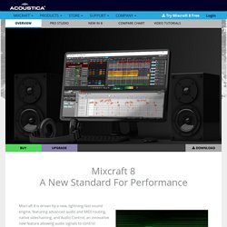 Mixcraft 5 - Affordable multi-track audio and MIDI recording software.