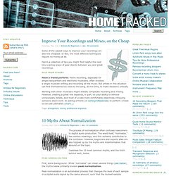 Home recording and project studio blog - Hometracked