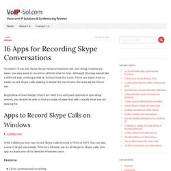 15 Apps for Recording Skype Conversations