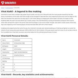 Virat Kohli - Check total runs, Records & Career details - DREAM11