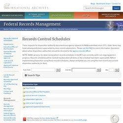 Records Control Schedules