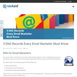 3 DNS Records Every Email Marketer Must Know
