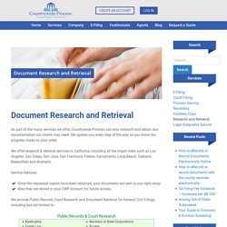 Public records research services