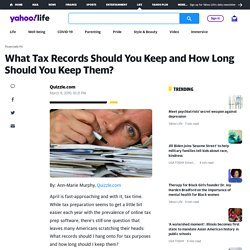 What Tax Records Should You Keep and How Long Should You Keep Them? on Shine
