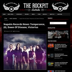 Napalm Records News: Temperance, (0), Dawn Of Disease, Victorius