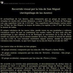 Recorrido visual por la Isla de San Miguel, Azores