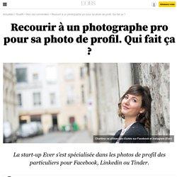 Recourir à un photographe pro pour sa photo de profil. Qui fait ça ?