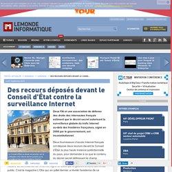 Des recours déposés devant le Conseil d'État contre la surveillance Internet