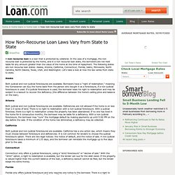 How Non-Recourse Loan Laws Vary from State to State - loan.com