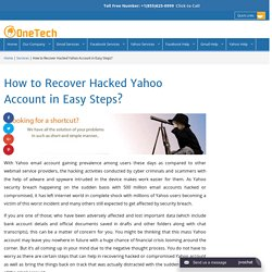 How to Recover Hacked Yahoo Account +1-855-625-0999 YahooRecovery