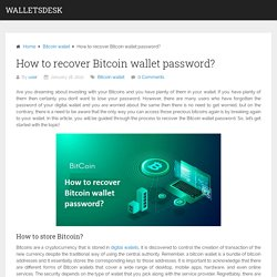 How to recover Bitcoin wallet password?