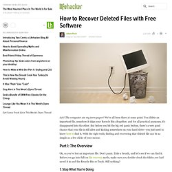 How to Recover Deleted Files with Free Software - Feature - Life