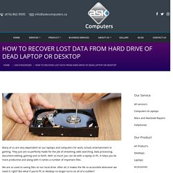How to Recover Lost Data from Hard Drive of Dead Laptop or Desktop - Ask Computers