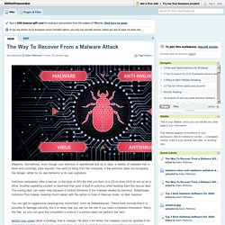 The Way To Recover From a Malware Attack
