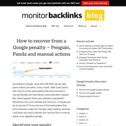 How to recover from a Google penalty - Penguin, Panda, manual action