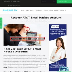 Recover AT&T Hacked Account