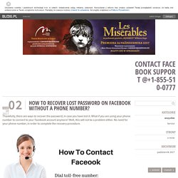 How to recover lost Password on Facebook without a phone number? - Contact Facebook Support @+1-855-510-0777