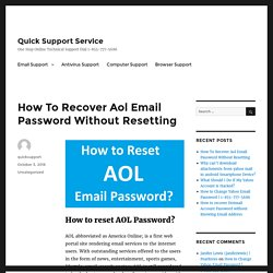 How To Recover Aol Email Password Without Resetting