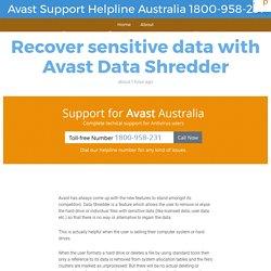 Recover sensitive data with Avast Data Shredder