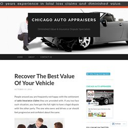 Recover The Best Value Of Your Vehicle