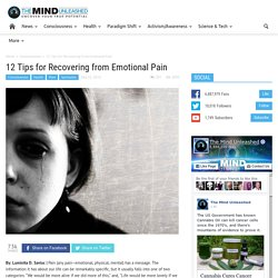 12 Tips for Recovering from Emotional Pain