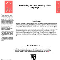Recovering the Lost Meaning of the Yijing Bagua