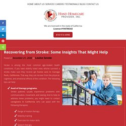 Recovering from Stroke: Some Insights That Might Help