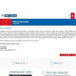 YES BANK recovers INR 645 crore - Press Release