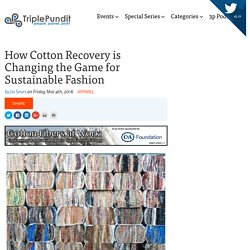 How Cotton Recovery is Changing the Game for Sustainable Fashion