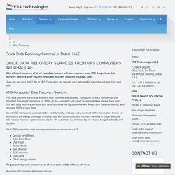 Data Recovery Company Dubai - Memory Recovery Service - VRScomputers.com