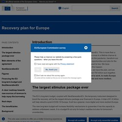Recovery plan for Europe