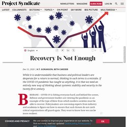 Recovery Is Not Enough by H.T. Goranson & Beth Cardier