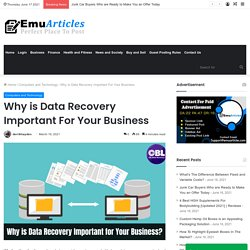 Why is Data Recovery Important for your Business?