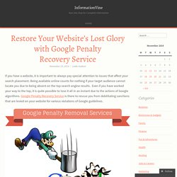 Restore Your Website's Lost Glory with Google Penalty Recovery Service