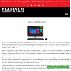Desktop Data Recovery - Platinum Plus Services