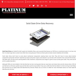 Solid State Drive Data Recovery - Platinum Plus Services