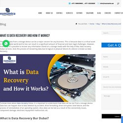 Data recovery is possible with best data recovery Dubai services