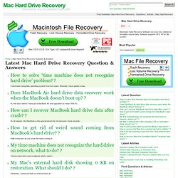 Mac Hard Drive Recovery Question & Answers