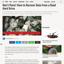 Hard Drive Data Recovery - How to Recover Data from a Dead Hard Drive