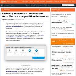 Recovery Selector fait redémarrer votre Mac sur une partition de secours