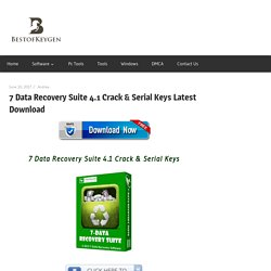 7 Data Recovery Suite 4.1 Crack & Serial Keys Latest Download