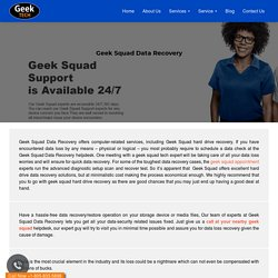 Can Geek Squad recover data from Hard Drive?