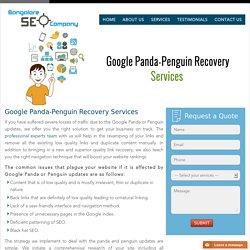 Google PANDA - PENGUIN Recovery Services - Bangalore SEO Company