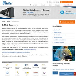 E-Mail Recovery services to recover deleted, corrupted or lost emails